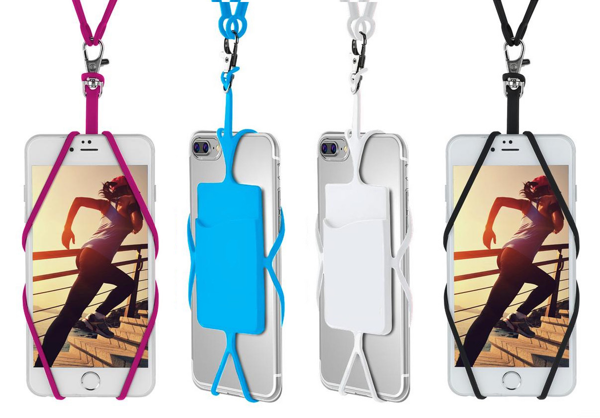Multifunctional smartphone strap with card holder